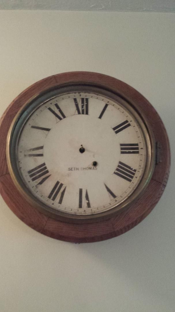 Delightful Up For Auction Is A Seth Thomas Gallery Clock For Parts Or Repair. The Oak  Case Is In Good Condition For Its Age. The Clock Is Missing The Glass. Good Ideas
