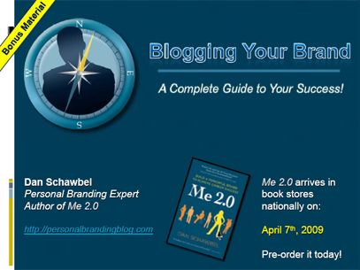 free 'guide to blogging' PDF companion to book 'Me 2.0'