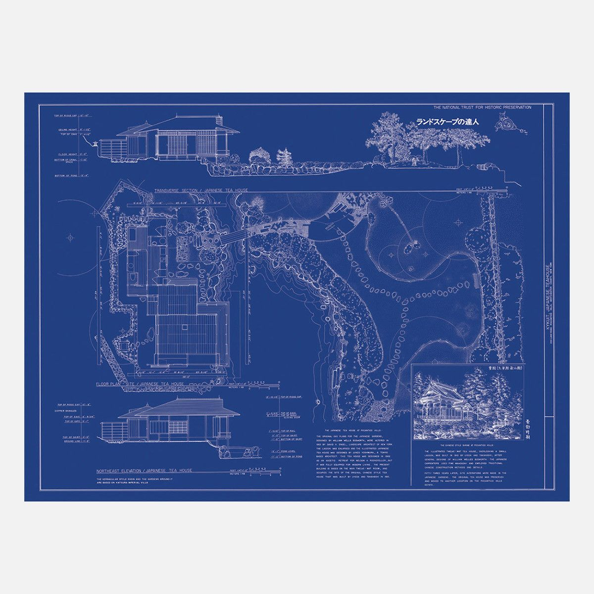 I Would Love To Hang This Blueprint In My Home Office Japanese Tea House At Kykuit