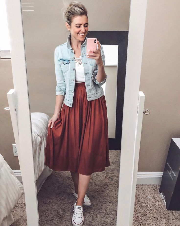 """Karla Reed on Instagram: """"I rounded up some super fun midi skirts for a try on over in stories today! This one is an amazing dupe for the JCrew one I have and is…"""""""