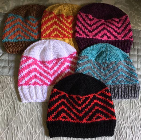4bd6c69aa77 Zig-Zag Chevron Hat -- A Free Knitting Pattern