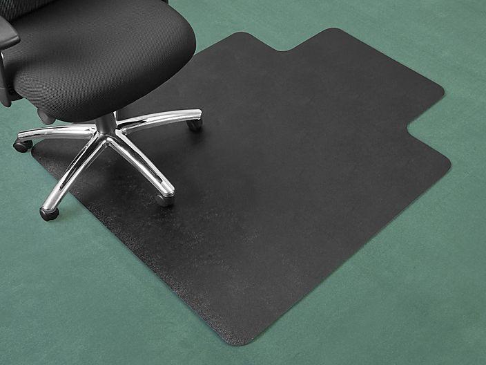 Carpet Chair Mat With Lip 45 X 53 Black H 6544 Uline Chair