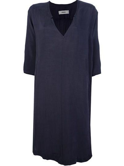 HUMANOID Vestido Azul Escuro.