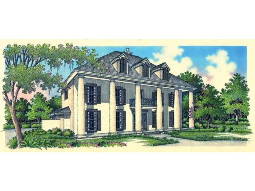 Colonial style house plan 4 beds 35 baths 3371 sqft
