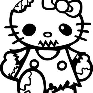 Hello Kitty Walking Dead Zombie window bumper Decal Vinyl Truck Car Sticker