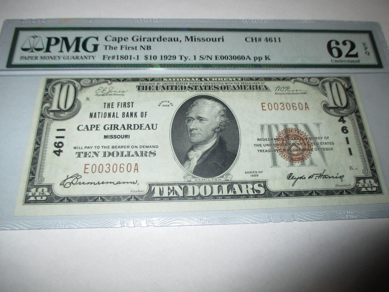 Collect national bank notes other rare currency bank