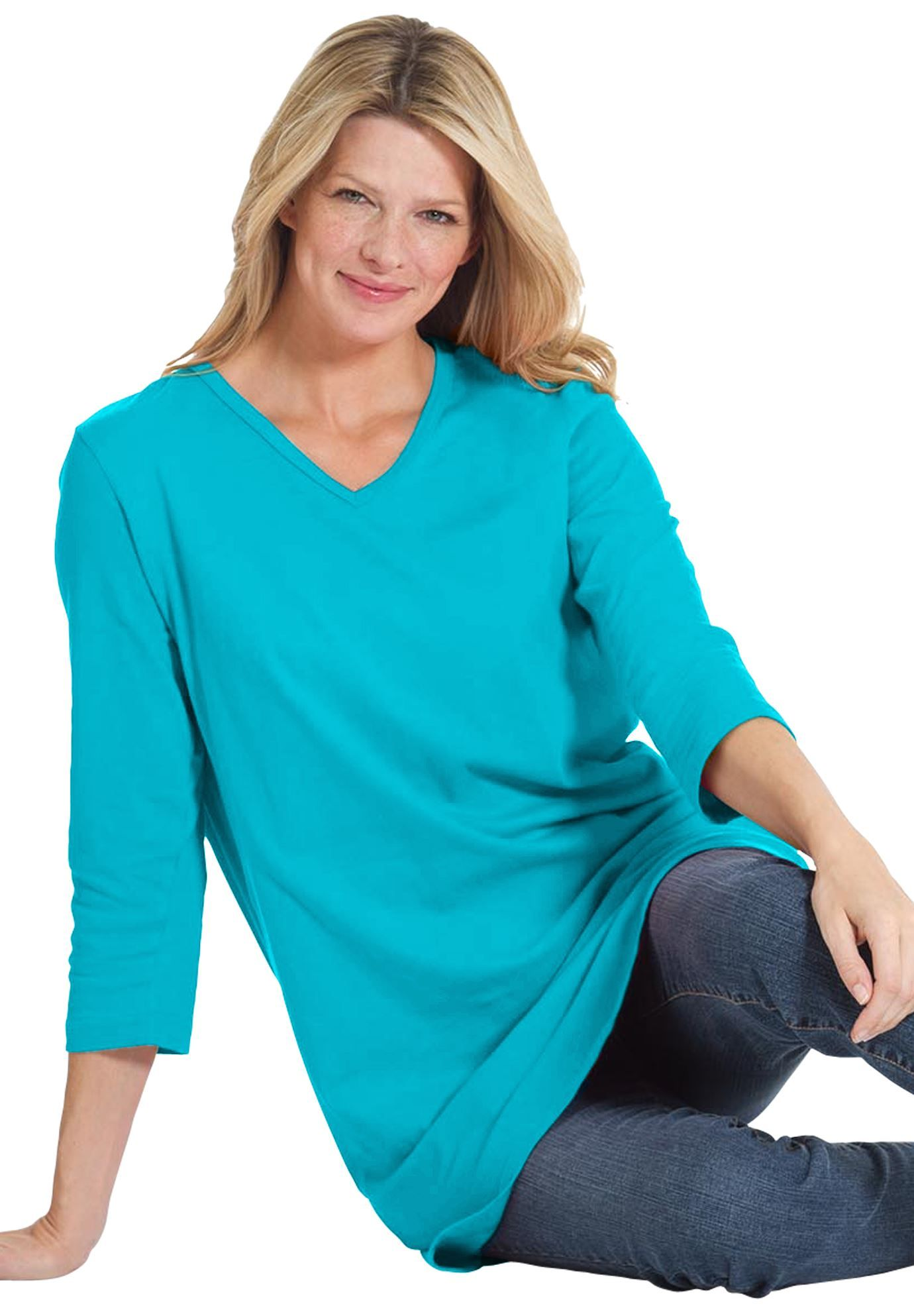 8113ddc7e1ea6 Among our Perfect plus size tops in soft cotton knit