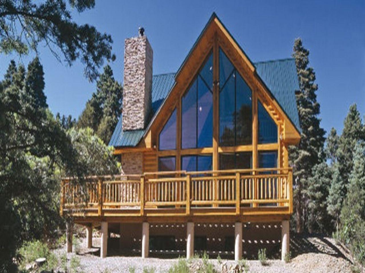 Frame Log Cabin House Plans Architecture - Chalets &