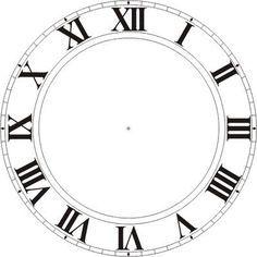 Free Printable Large Clock Face Google Search Fun Stuff Diy