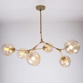 goedkope karakteristieke lindsey adelman ijzer hanger lichtpunt industrile engineering glazen hanglamp slaapkamer restaurant licht e27