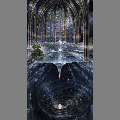 Genesis Trompe l'oeil Door mural wallpaper: this is the most extensive online shop I've found for actually nice temporary wallpaper, unusual contact paper, fancy-schmansy window film and murals.