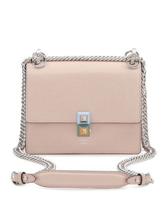 ac6dad102e90 Fendi Kan I Mini Leather Chain Shoulder Bag