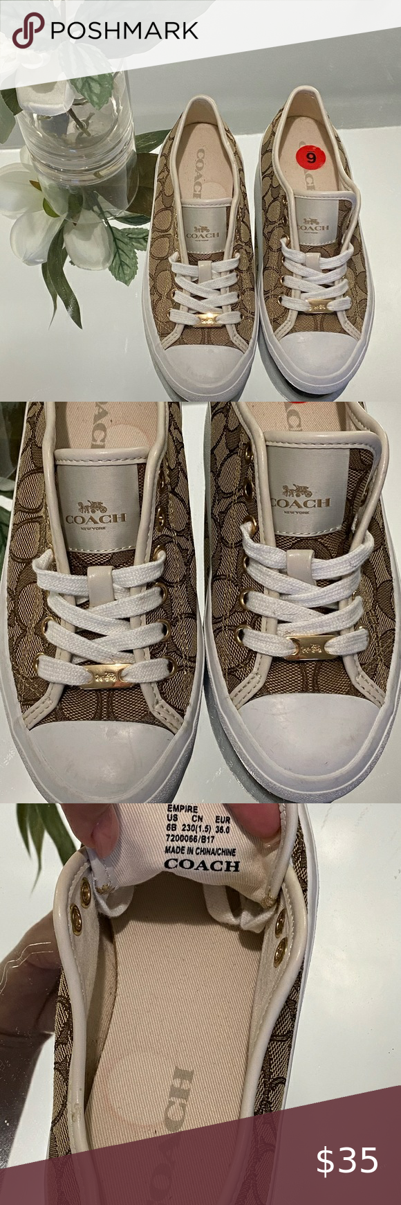 COACH SHOES FOR WOMEN ⚜️✨⭐️???????????? USED ONLY ONCE , LIKE A NEW ???????????????????? Coach Shoes Sneakers #myposhpicks