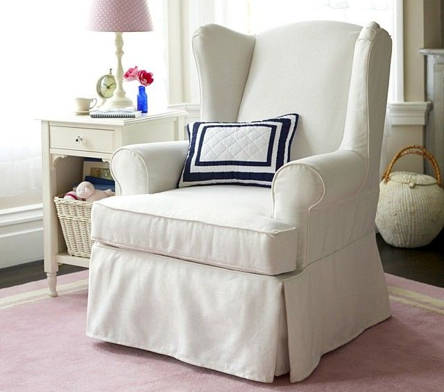 Slipcovered Wing Chair Slipcovers For Chairs Wingback Chair