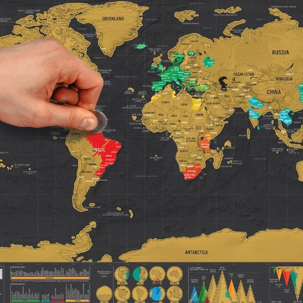 Amazon supplypro gold plating scratch world map creative hand drawn scratch off world map gumiabroncs Gallery