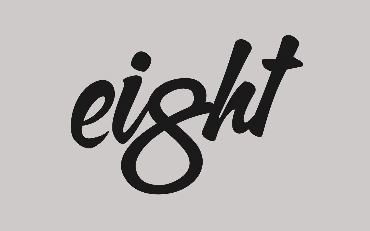 eight logo by nick de jardine logo eight typografie zahlen und w rter. Black Bedroom Furniture Sets. Home Design Ideas