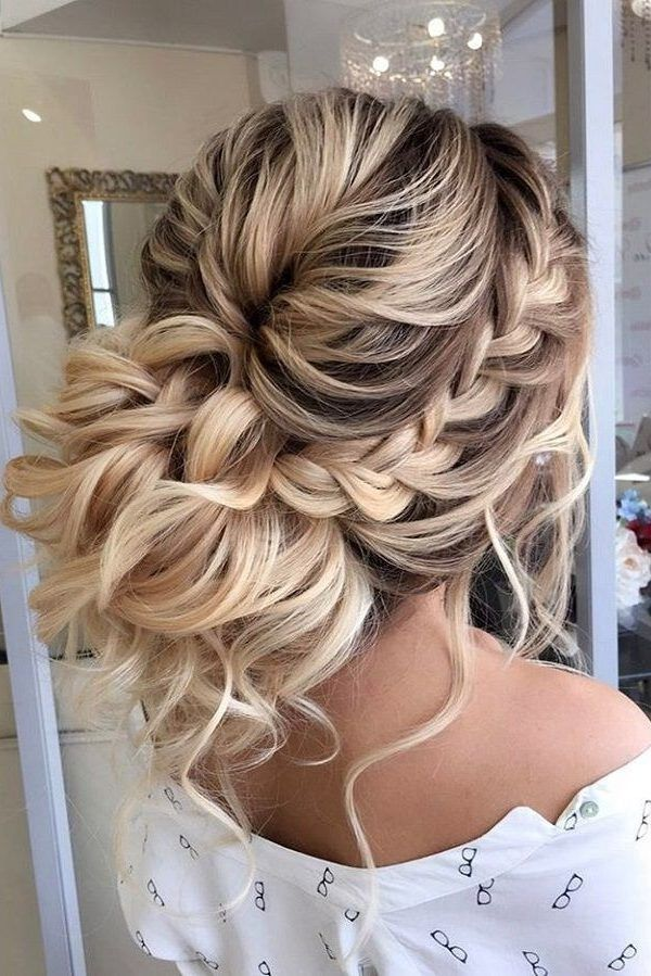 30 Wedding Updos For Long Hair In 2020 With Images Thick Hair Styles Hair Styles Prom Hairstyles For Long Hair