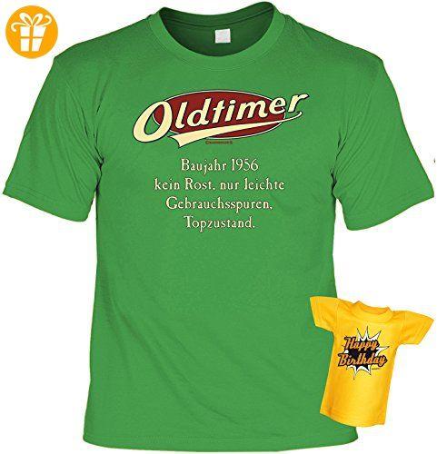 Geburtstags-Jahrgangs-Fun-Shirt-Set inkl. Mini-Shirt/Flaschendeko