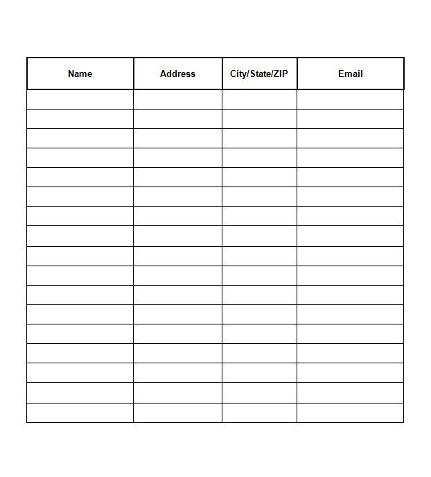 SignUp Sheet Template   Ale    Templates And Signs