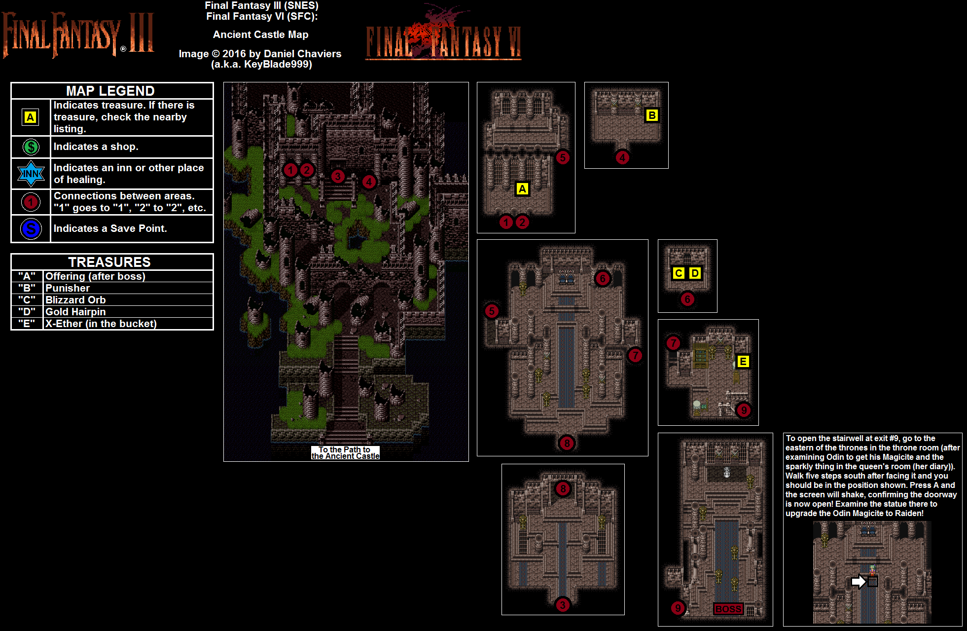 Final Fantasy VI Ancient Castle Map for PlayStation by ...