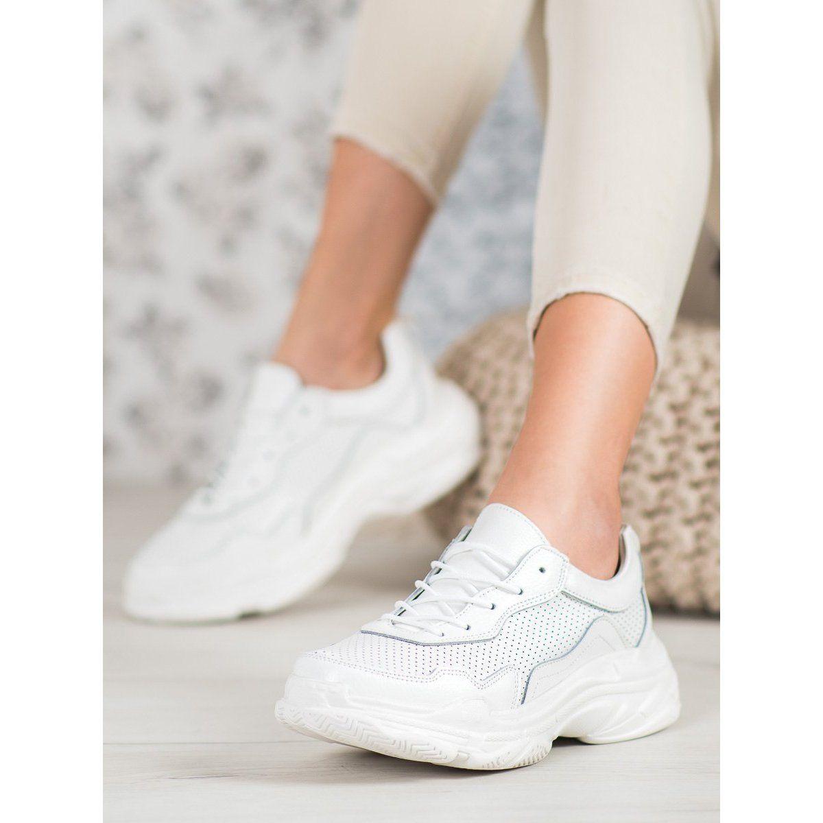 Goodin Biale Skorzane Sneakersy White Sneaker Shoes Adidas Stan Smith