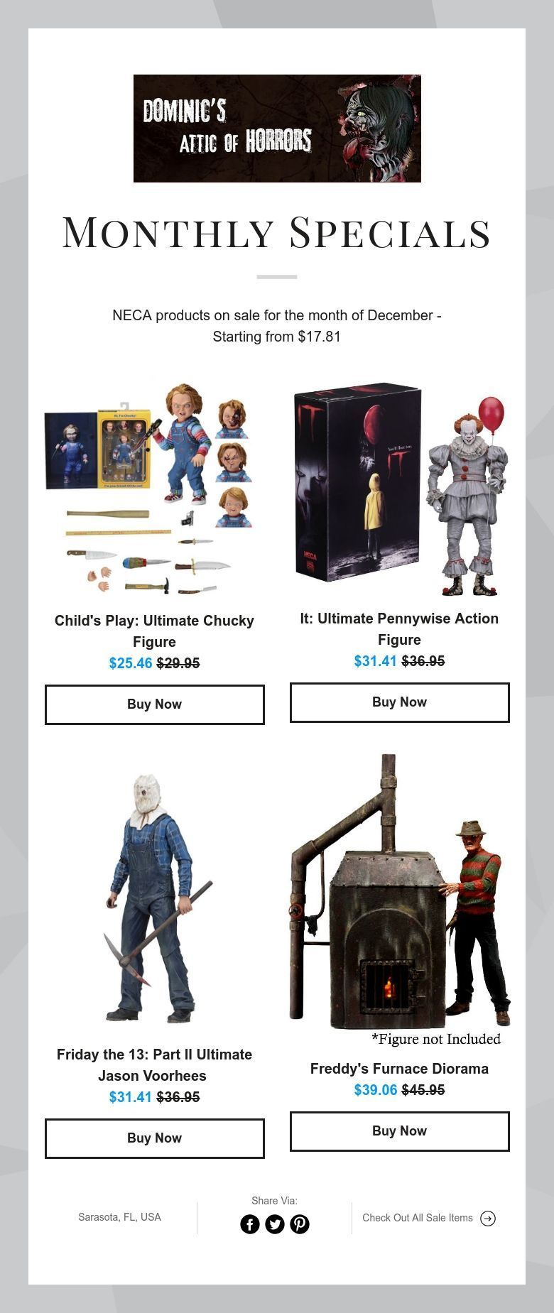 Monthly Specials With Images Monster Vampire Kids Playing Neca