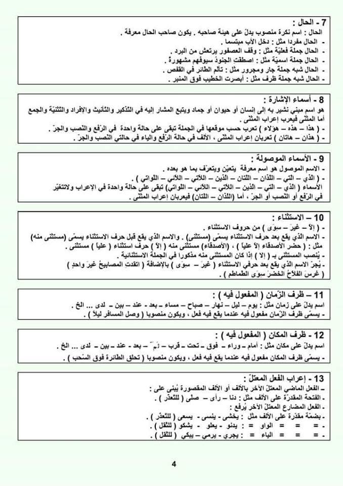 ملخص دروس اللغة العربية 4 متوسط Image Search Results