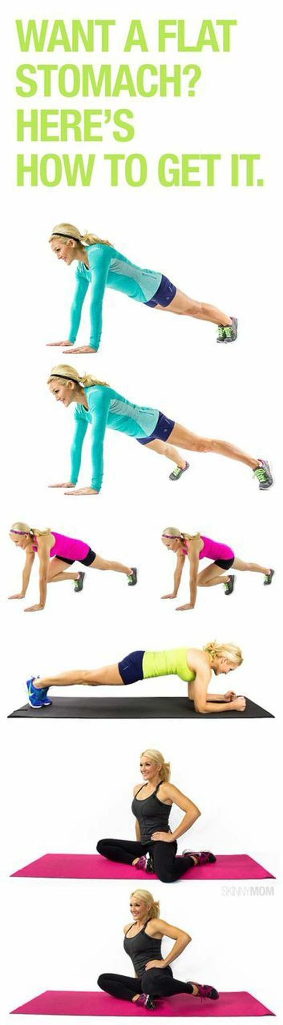 Best Workouts for A Tight Tummy  Flat stomach exercises Stomach