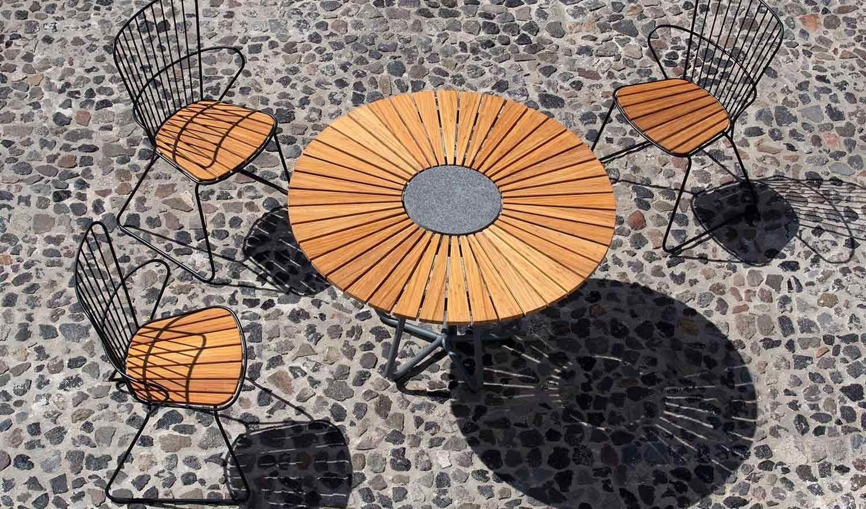 Houe Circle Tisch O150 Cm Bambus Outdoor Blickfang