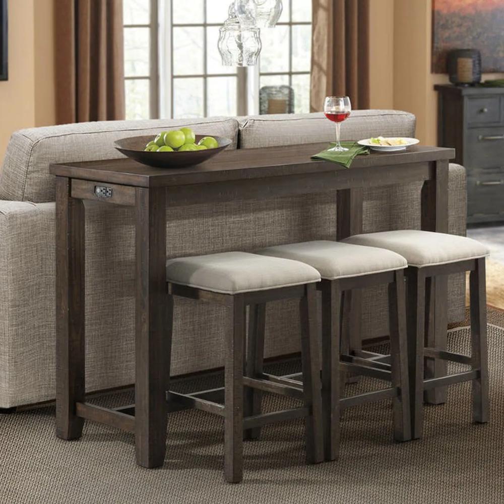 Lunar Table With Stools Bar Table Sets Bar Table Pub Table Sets