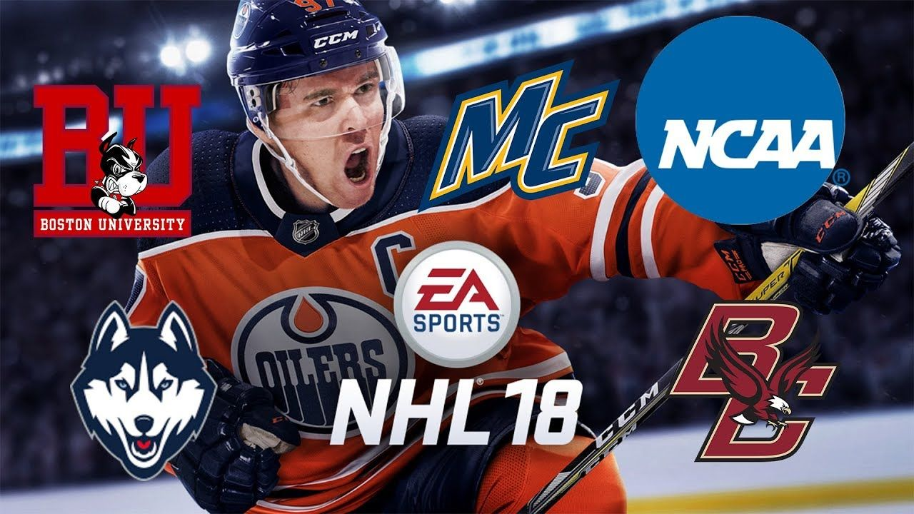 Nhl 18 Ncaa Hockey Teams Hockey East Ncaa Videos Nhl Ncaa