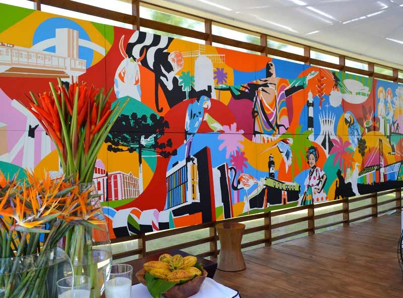 The tropical theme is inspiration of wall mural art.  Brazil Art, Mural Art, Pop Art, Painting in Canvas, Artist
