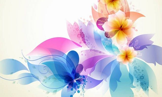 lightblueflowervectorbackground creativity and