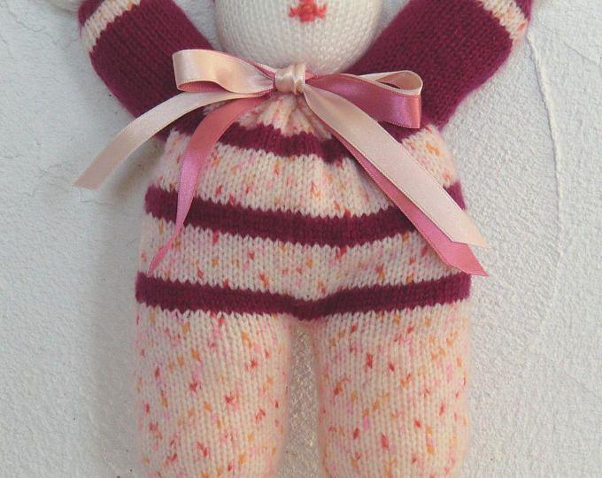 Doudou rigolo - Lutin tout doux - En laine fantaisie - Bébé Enfant Fille -  Coloris b85f15d3fd5