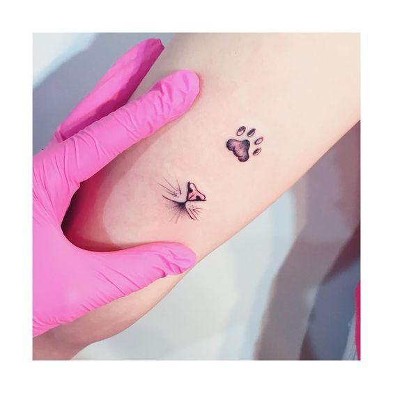 """Photo of Tatuagens Femininas🌺✨ on Instagram: """"Gatito! Obrigada meninas! Amei as ri… #tatoofeminina – tatoo feminina"""