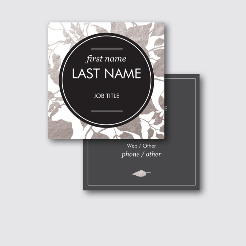 Black Square Business Cards Images - Card Design And Card Template