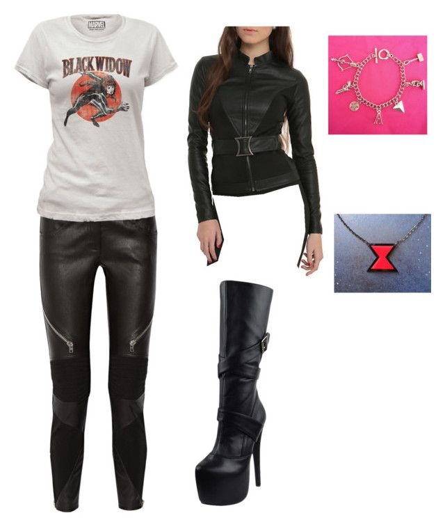 """""""Black Widow"""" by emmy4679-is-fandomobsessed ❤ liked on Polyvore featuring Givenchy, Marvel Comics and Generation Y"""