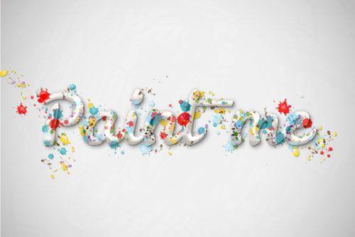 Create a Multicolored Splashed Text Effect in Adobe Illustrator #illustratortutorials #vectortutorials #designillustration #vectorgraphics