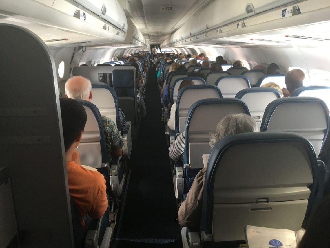 Delta Air Lines Fleet Mcdonnell Douglas Md 90 30 M90 Economy Class Main Cabin From The Rear Delta Airlines Airline Fleet