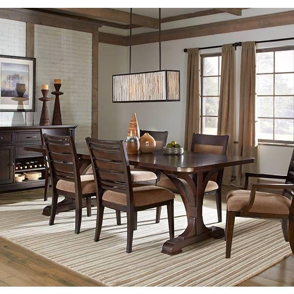 Crystal Ridge Trestle Dining Table  Emerald  Star Furniture Magnificent Dining Room Chairs San Antonio Design Ideas