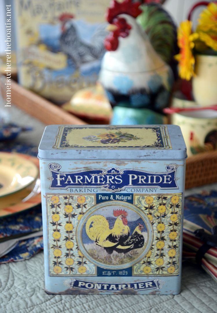 At the Table: Pfaltzgraff Napoli Rooster | Tin containers ...