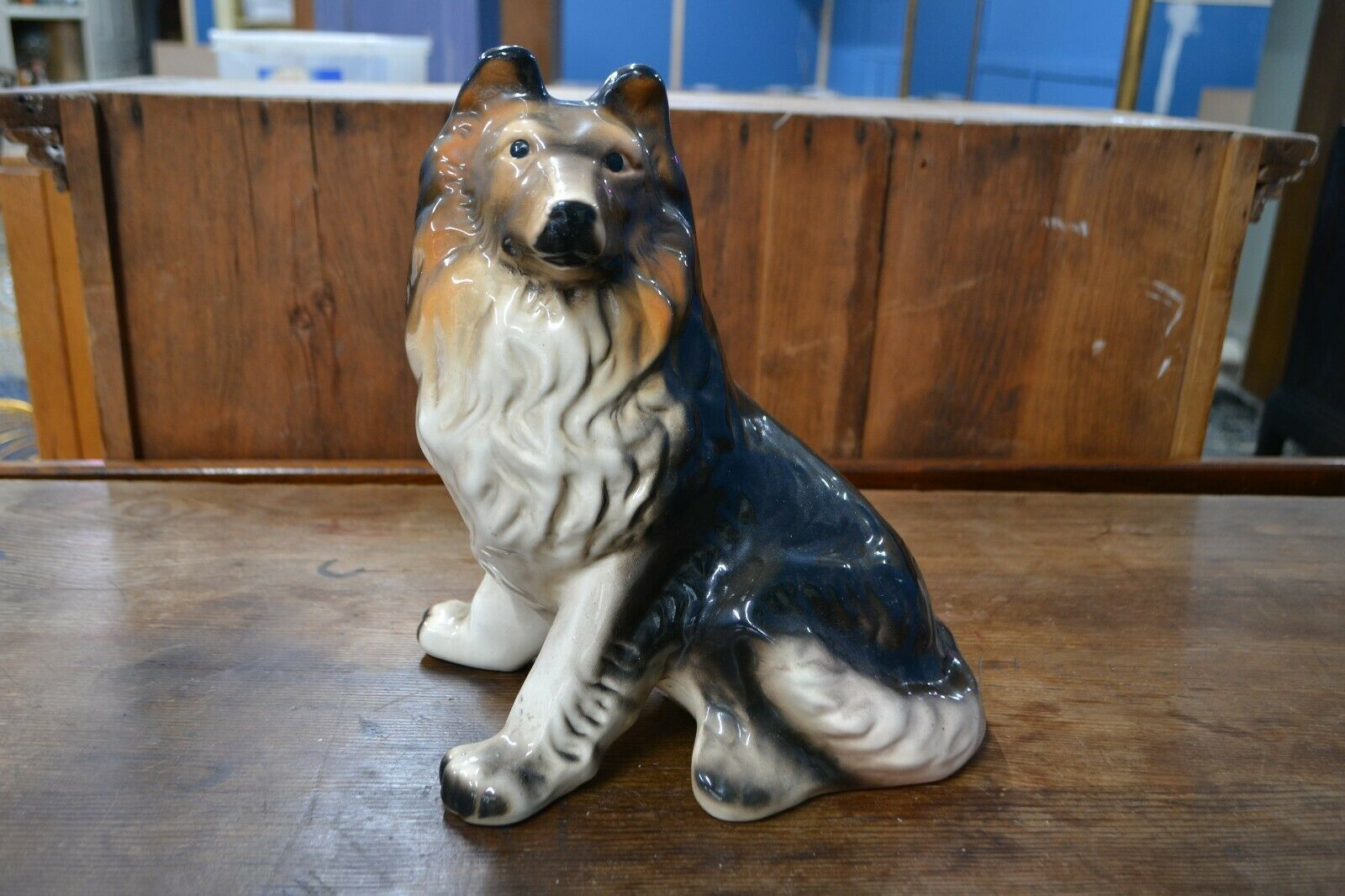 You Are Bidding On A Vintage China Collie Dog Ornament This Item