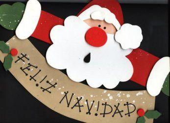 Navidad decoracion navidad la bienvenida y las puertas - Decoracion navidad goma eva ...