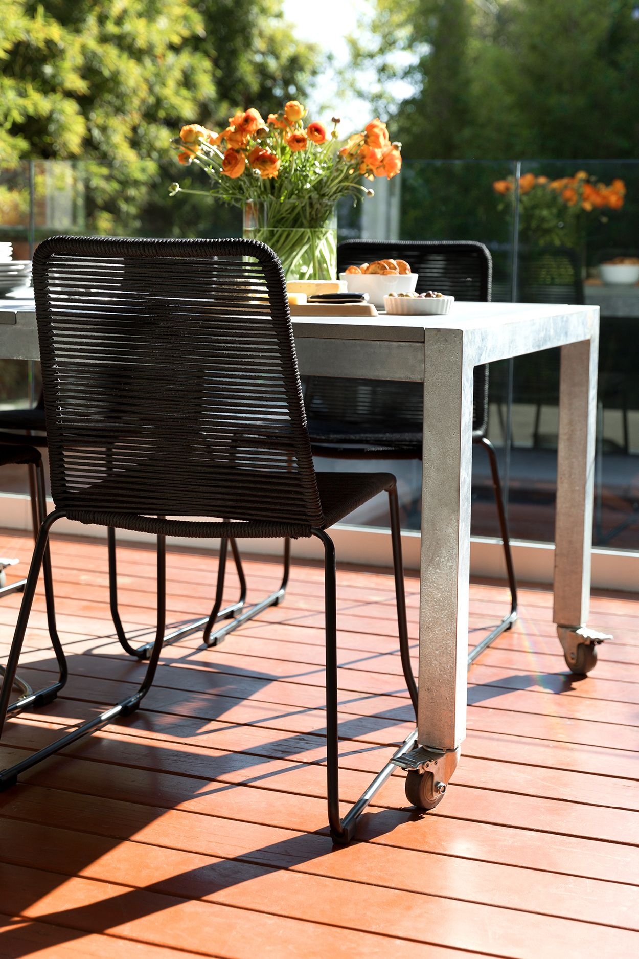 Built on a solid metal frame, the Como dining chair is ...