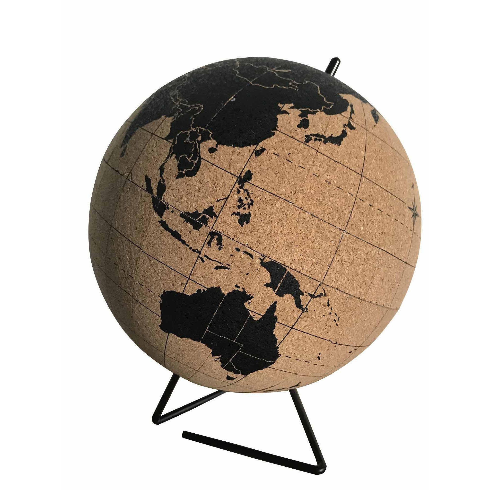 prix carte leroy merlin Globe terrestre liège Impression carte du monde marron/noir, D.20