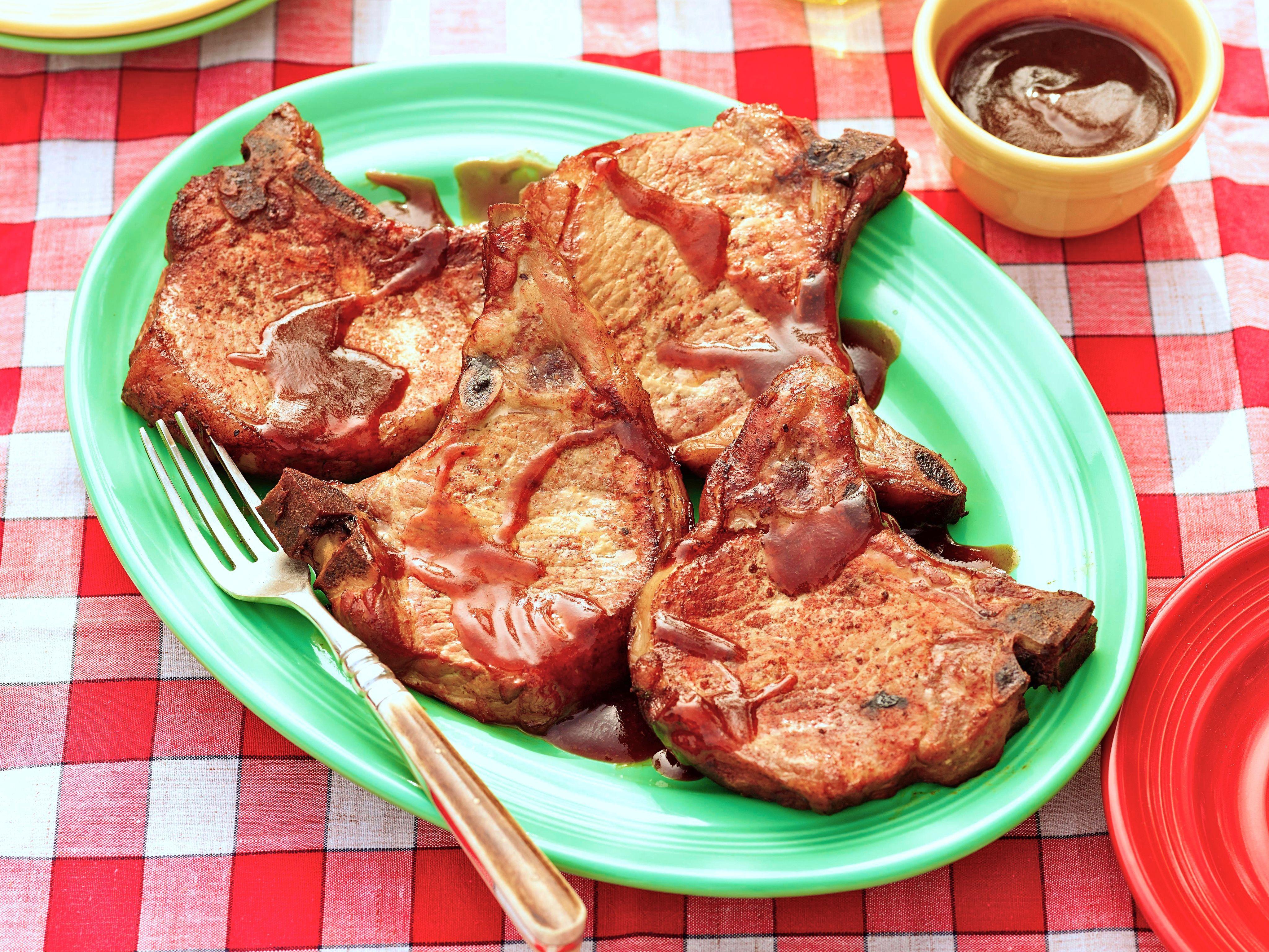 Smoked pork steaks recipe