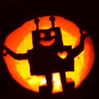 pumpkin template robot  Robot pumpkin in 5   Pumpkin carving, Halloween pumpkins ...