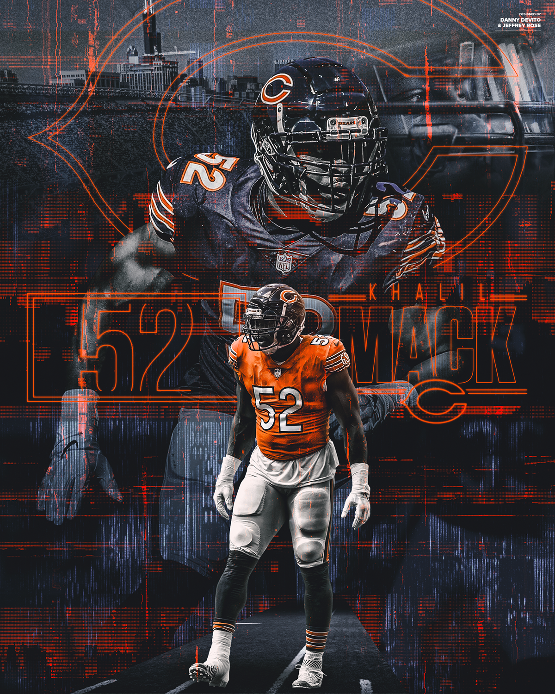 Khalil Mack: Chicago Bears Graphic on Behance | Chicago ...