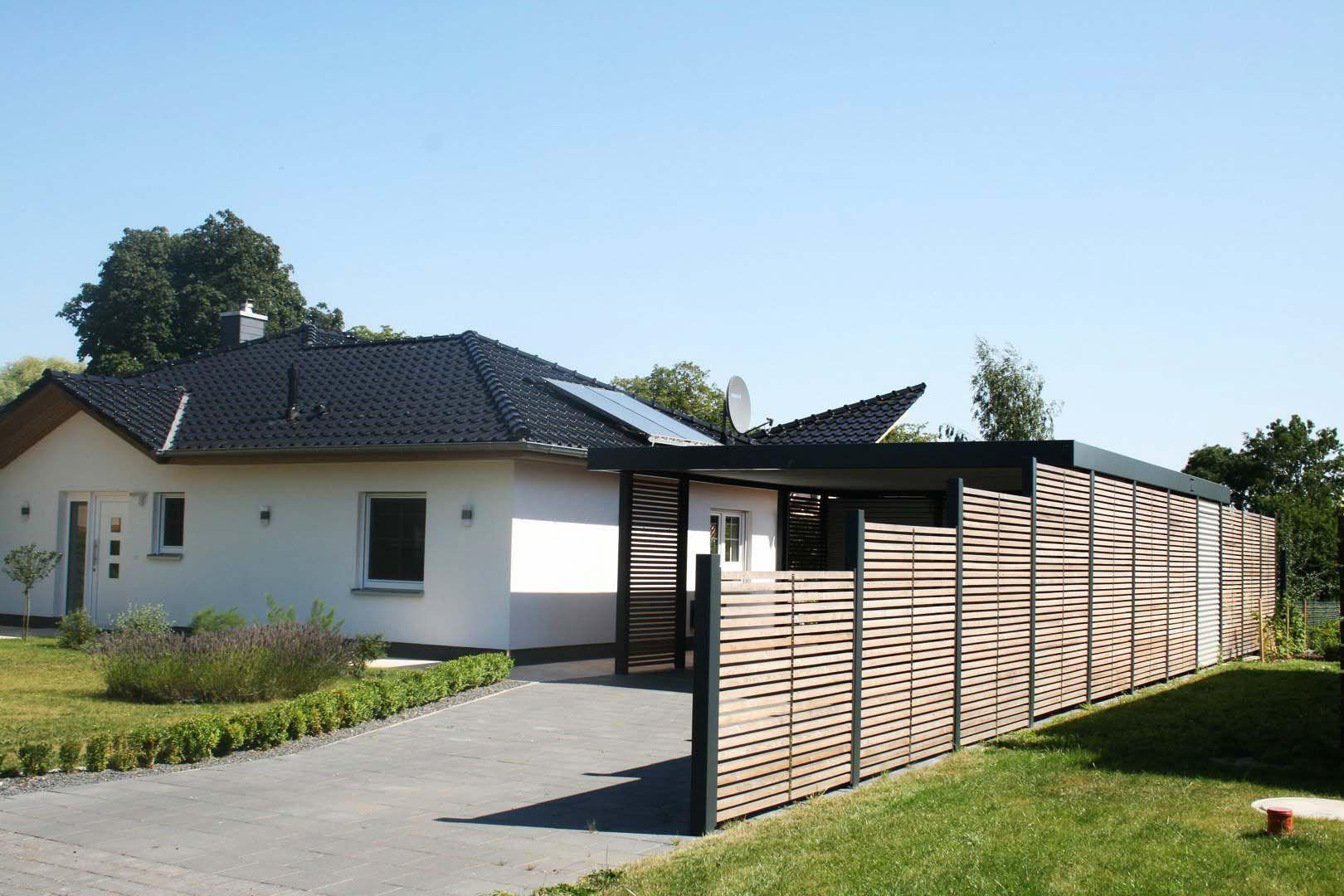 design metall carport sichtschutzzaun aus stahl holz blech. Black Bedroom Furniture Sets. Home Design Ideas