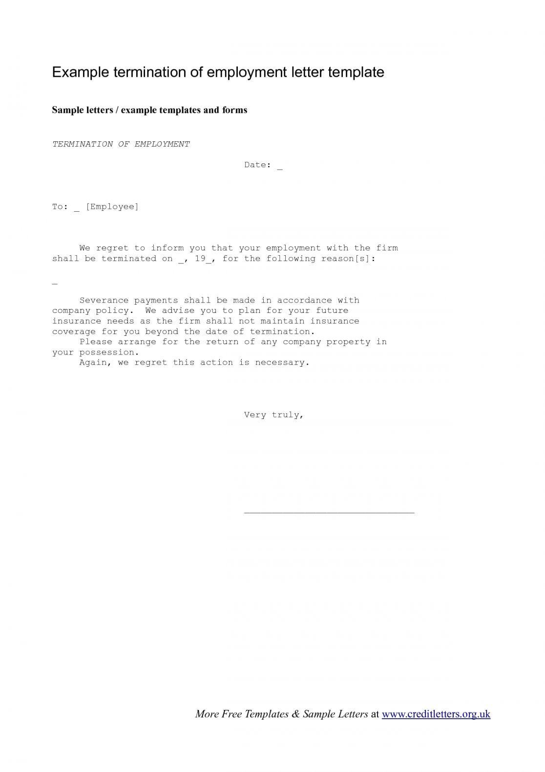 Editable Verification Of Termination Of Employment Letter Doc Sample In 2021 Letter Of Employment Letter Templates Letter Templates Free
